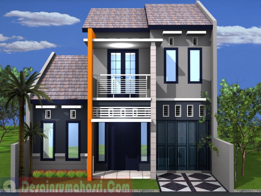 Desain Rumah mungil 2lantai