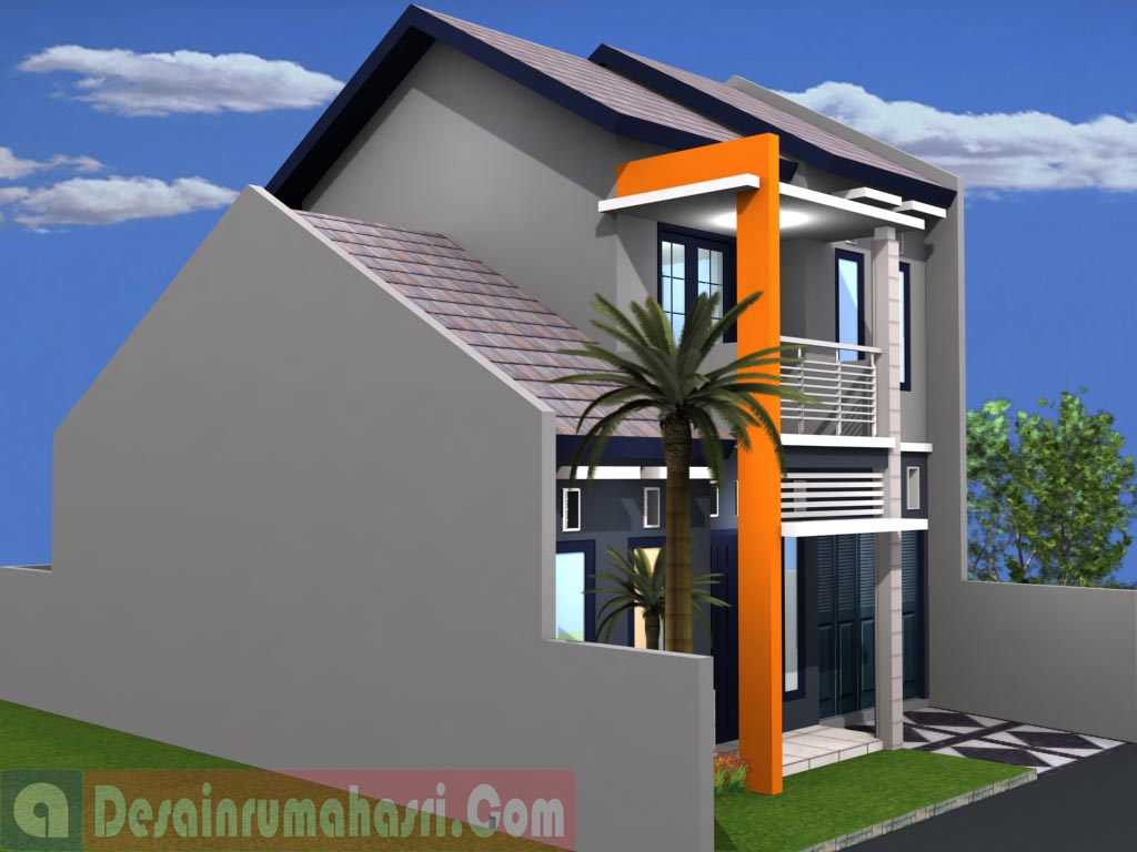 & Desain Rumah mungil 2lantai