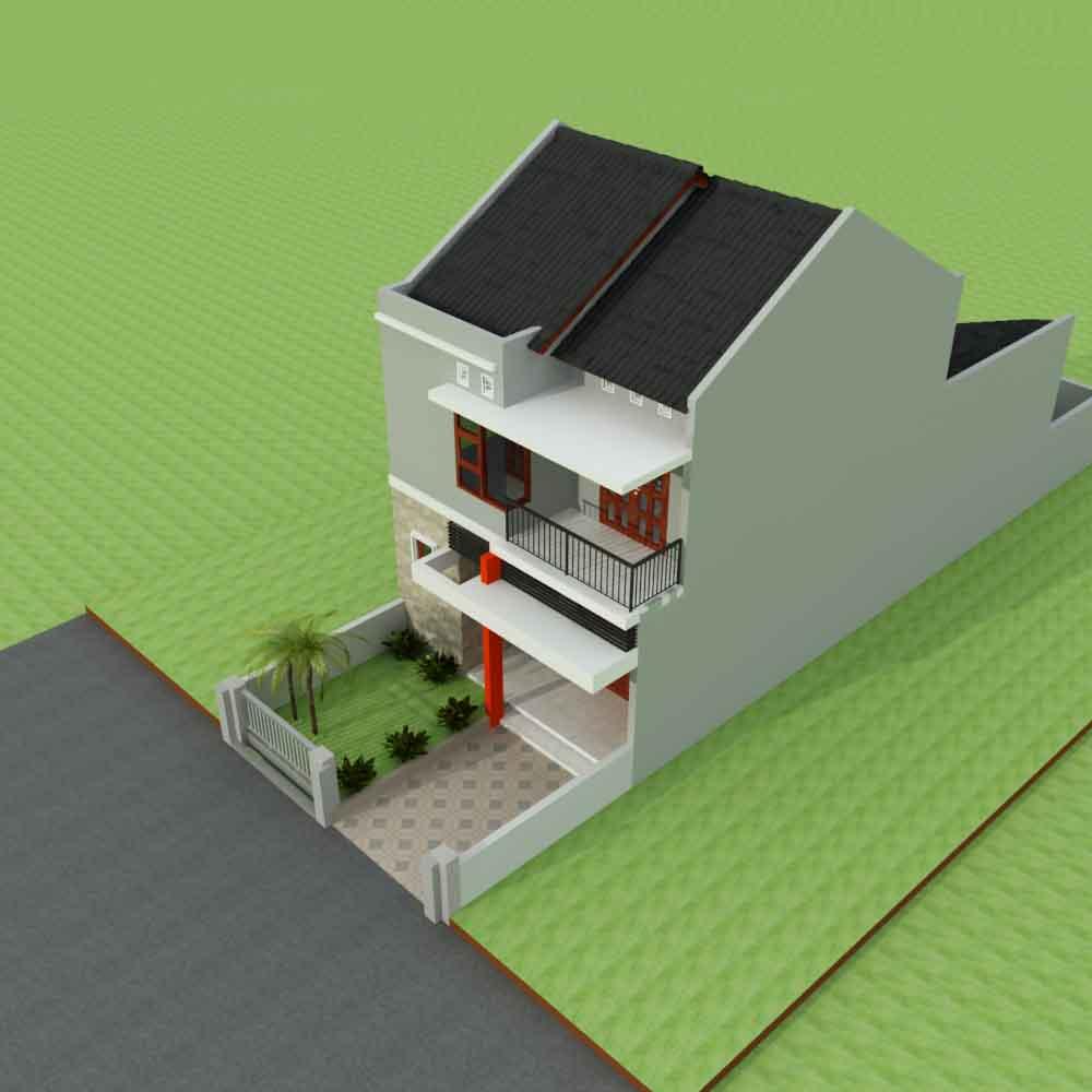 Desain Rumah Sederhana 2 Lantai